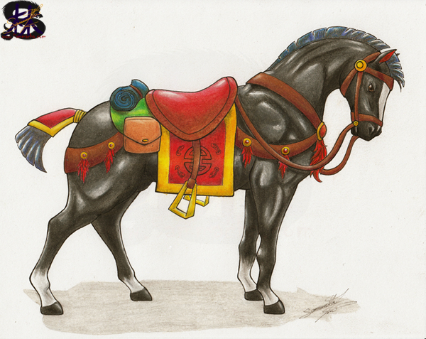 Chinese War Horse Daiyu #2 - Samantha Lim's Art Blog